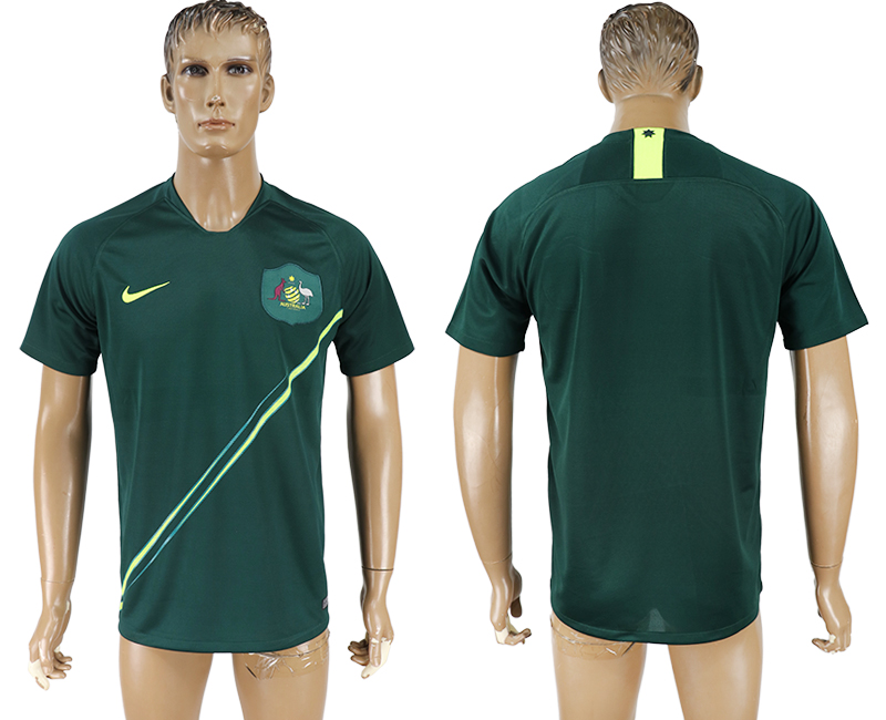 Men 2018 World Cup Australia away aaa version green soccer jersey