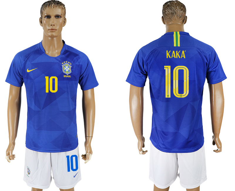 Men 2018 World Cup Brazil away 10 blue soccer jersey2