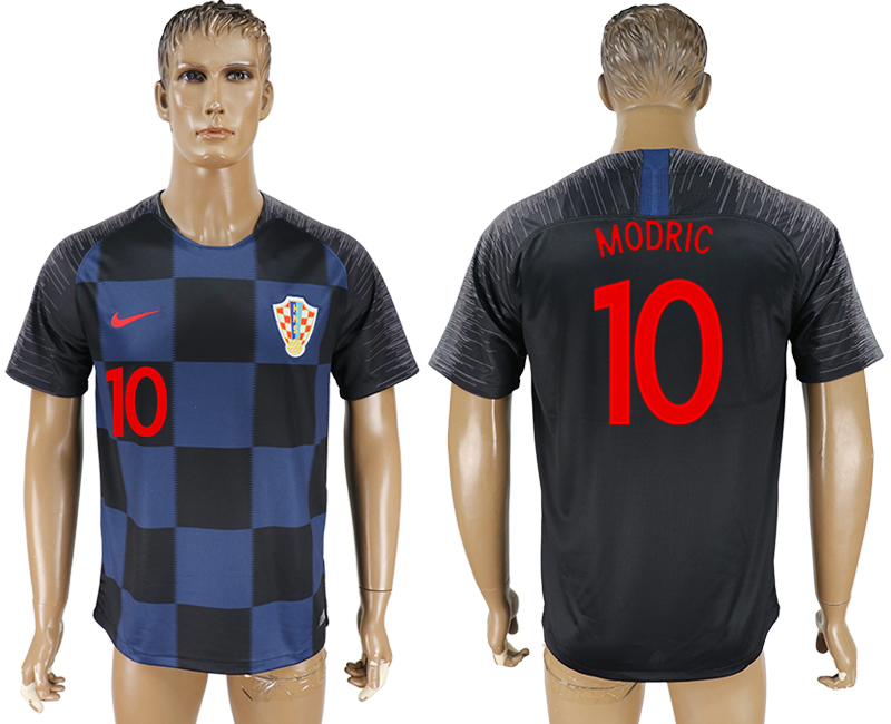 Men 2018 World Cup Croatia away aaa version 10 blue soccer jersey