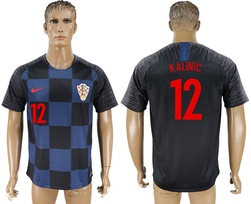 Men 2018 World Cup Croatia away aaa version 12 blue soccer jersey