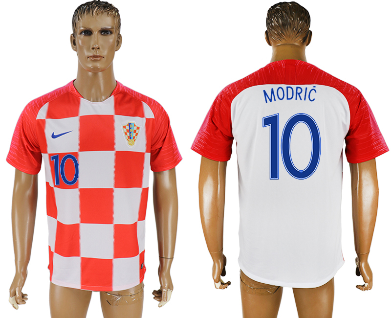 Men 2018 World Cup Croatia home aaa version 10 red soccer jersey