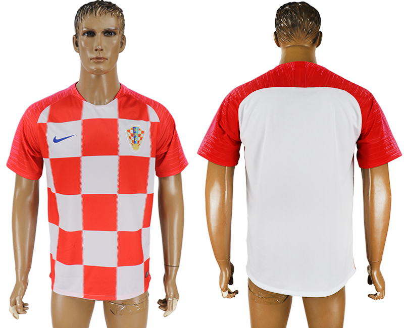 Men 2018 World Cup Croatia home aaa version red soccer jersey