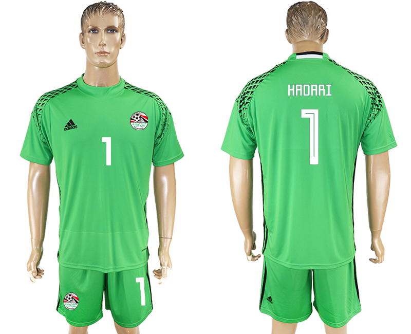 Men 2018 World Cup Egypt green goalkeeper 1 soccer jersey