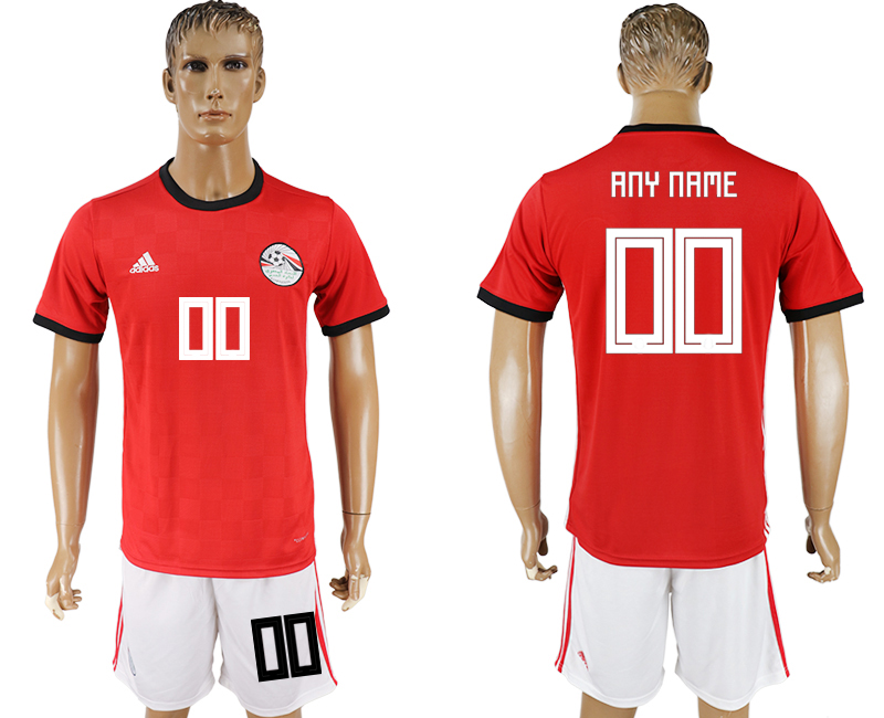 Men 2018 World Cup Egypt home customized red soccer jersey