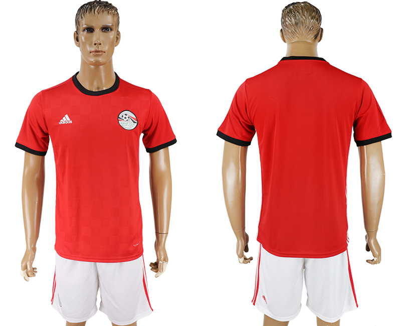 Men 2018 World Cup Egypt home red soccer jersey