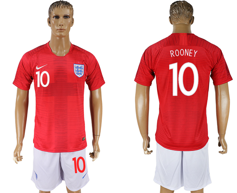 Men 2018 World Cup England away 10 red soccer jersey1