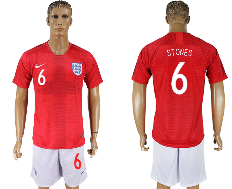 Men 2018 World Cup England away 6 red soccer jersey