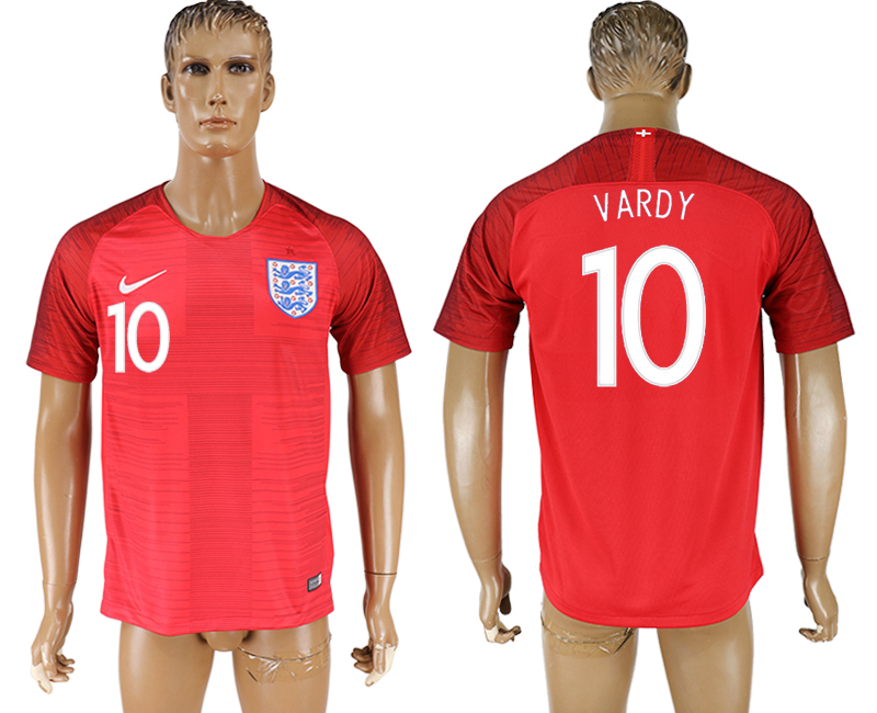 Men 2018 World Cup England away aaa version 10 red soccer jersey