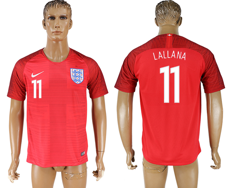 Men 2018 World Cup England away aaa version 11 red soccer jersey