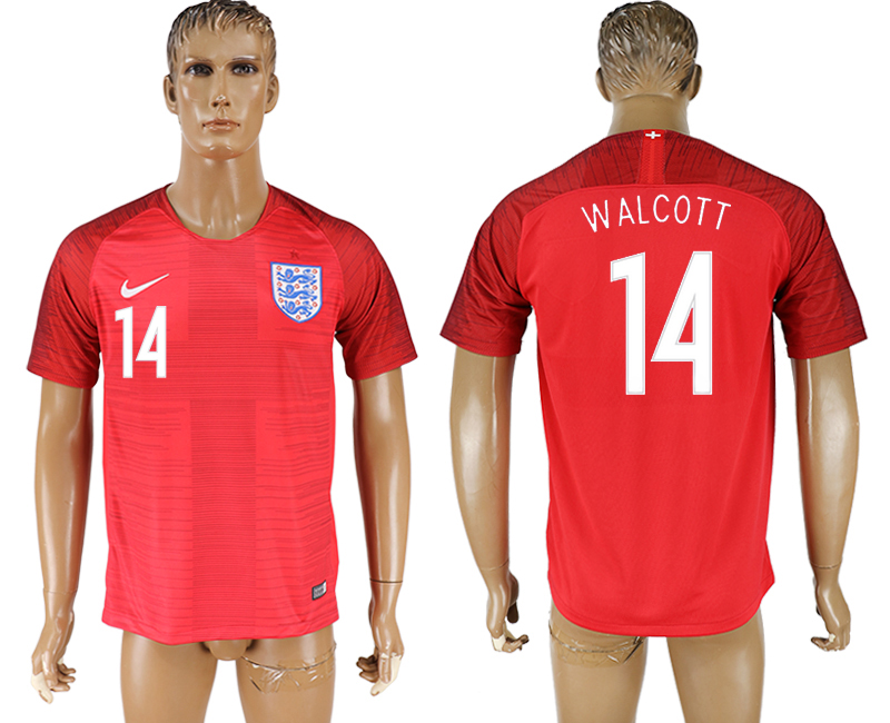 Men 2018 World Cup England away aaa version 14 red soccer jersey
