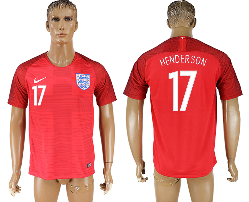 Men 2018 World Cup England away aaa version 17 red soccer jersey