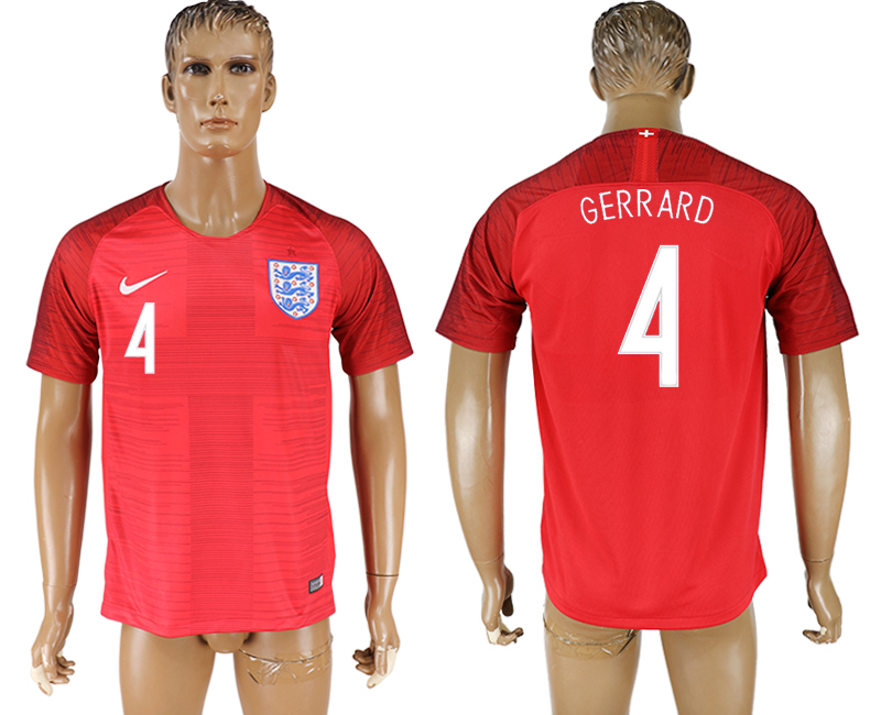 Men 2018 World Cup England away aaa version 4 red soccer jersey