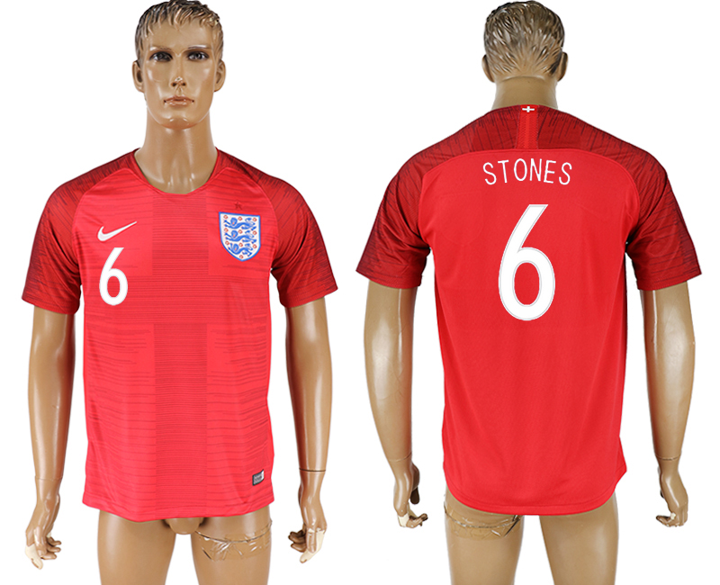 Men 2018 World Cup England away aaa version 6 red soccer jersey