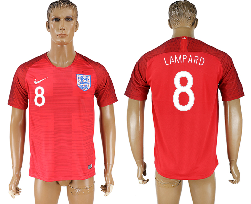 Men 2018 World Cup England away aaa version 8 red soccer jersey