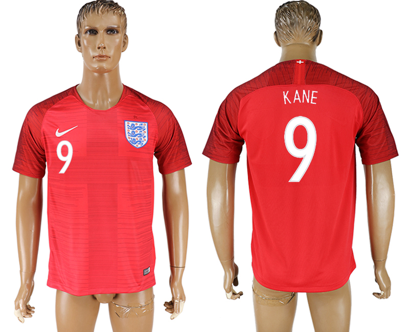 Men 2018 World Cup England away aaa version 9 red soccer jersey