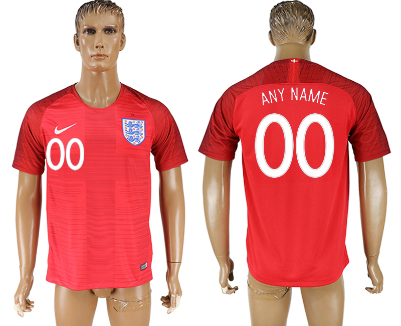 Men 2018 World Cup England away aaa version customized red soccer jersey