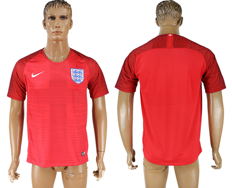 Men 2018 World Cup England away aaa version red soccer jersey