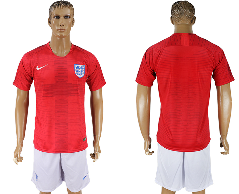 Men 2018 World Cup England away red soccer jersey1