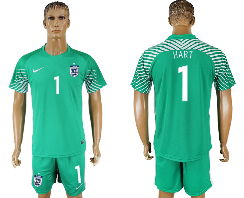 Men 2018 World Cup England green goalkeeper 1 soccer jersey