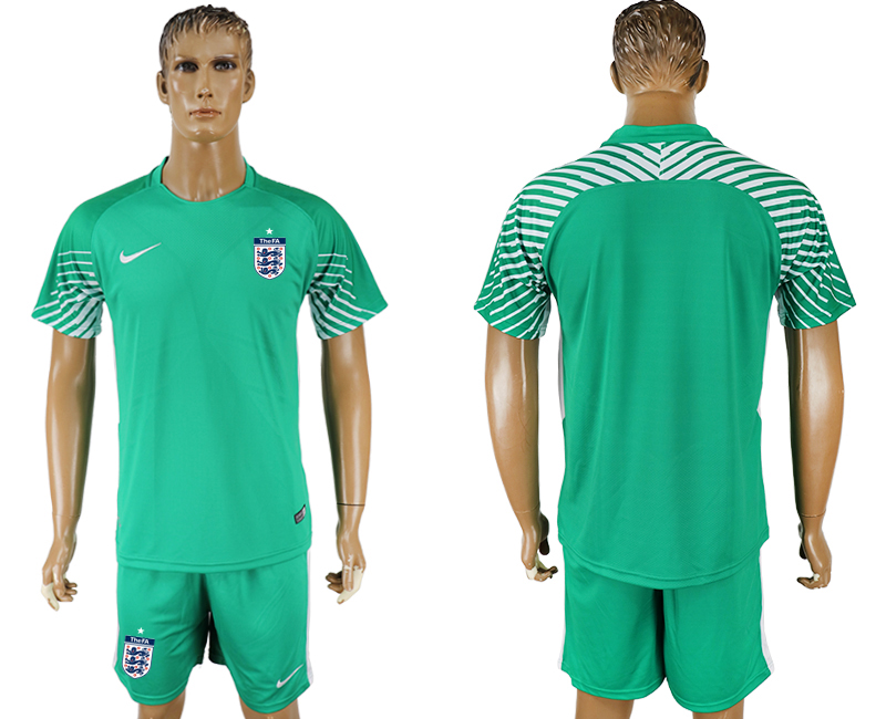 Men 2018 World Cup England green goalkeeper soccer jersey