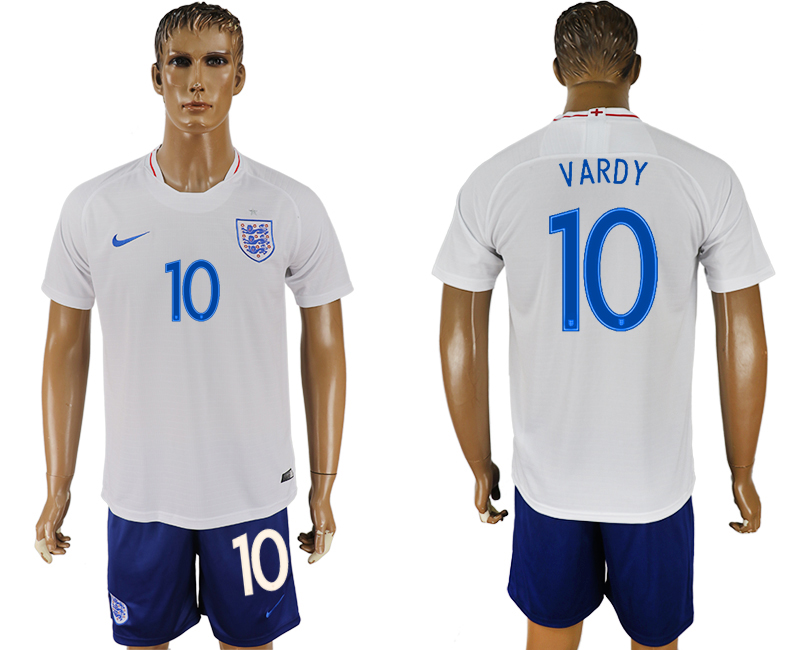 Men 2018 World Cup England home 10 white soccer jersey