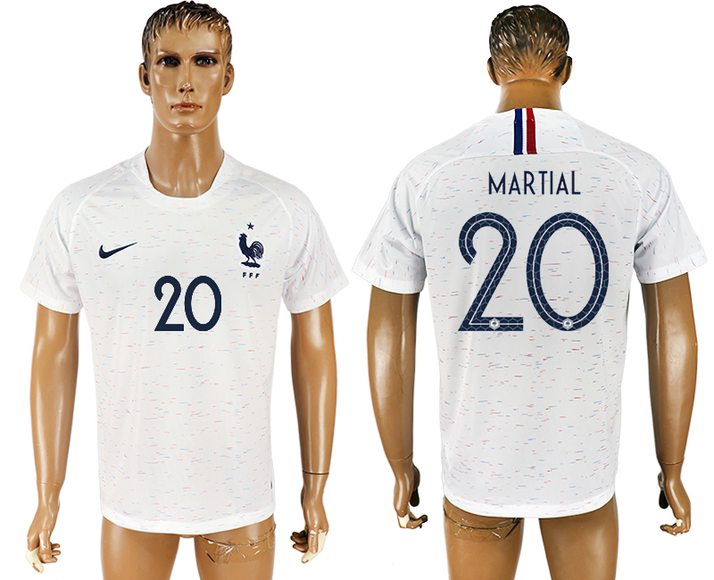 Hommes 2018 Coupe du Monde France à l'écart aaa version 20 maillot de football blanc