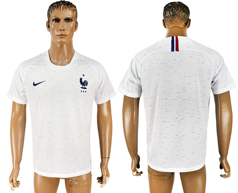 Men 2018 World Cup France away aaa version white soccer jersey