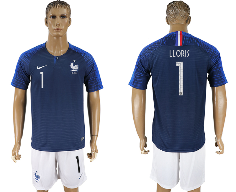 Men 2018 World Cup France home 1 blue soccer jersey