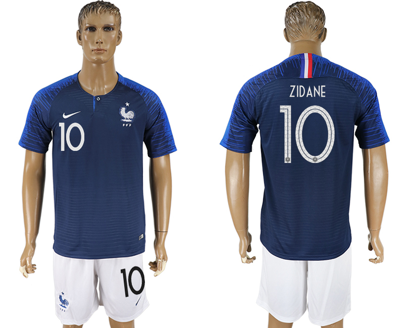 Men 2018 World Cup France home 10 blue soccer jersey1