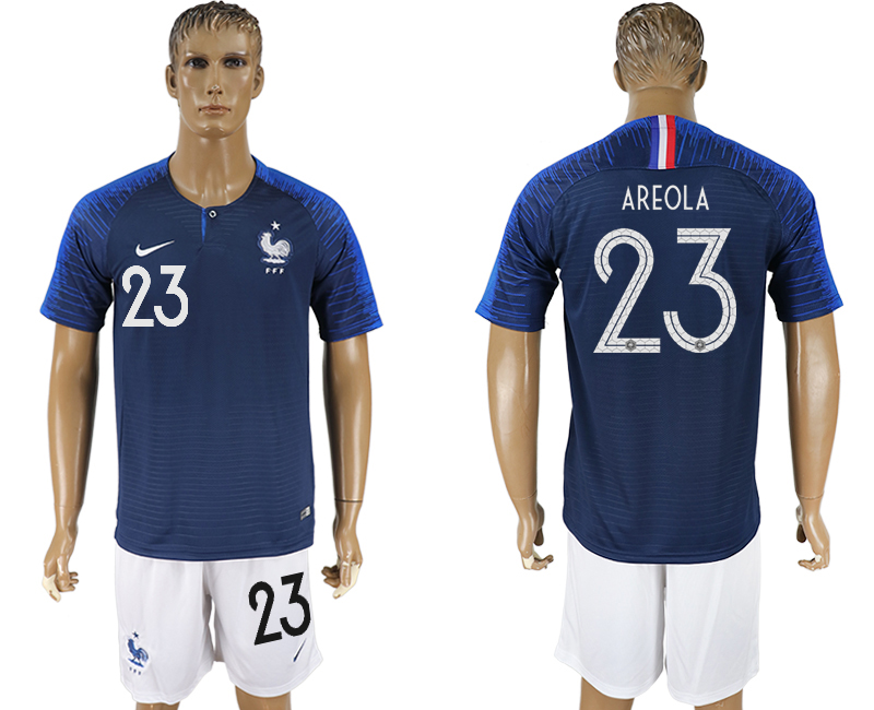 Men 2018 World Cup France home 23 blue soccer jersey