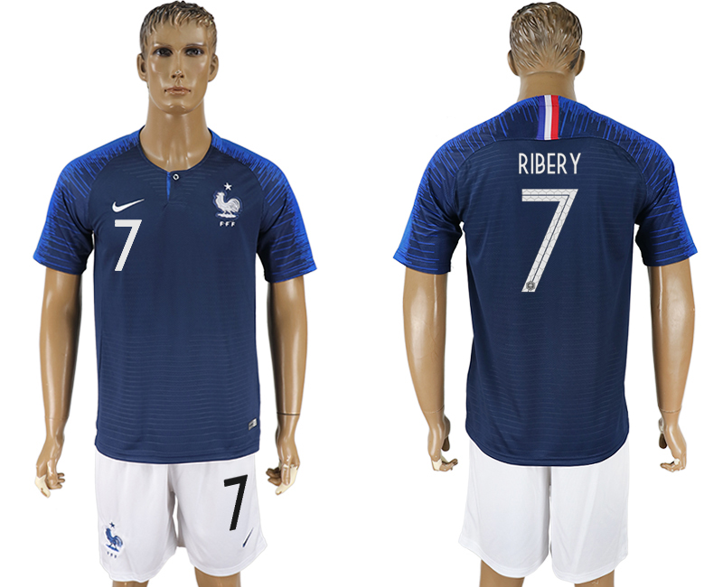 Men 2018 World Cup France home 7 blue soccer jersey1