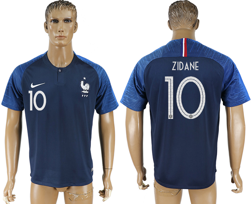 Men 2018 World Cup France home aaa version 10 blue soccer jersey1