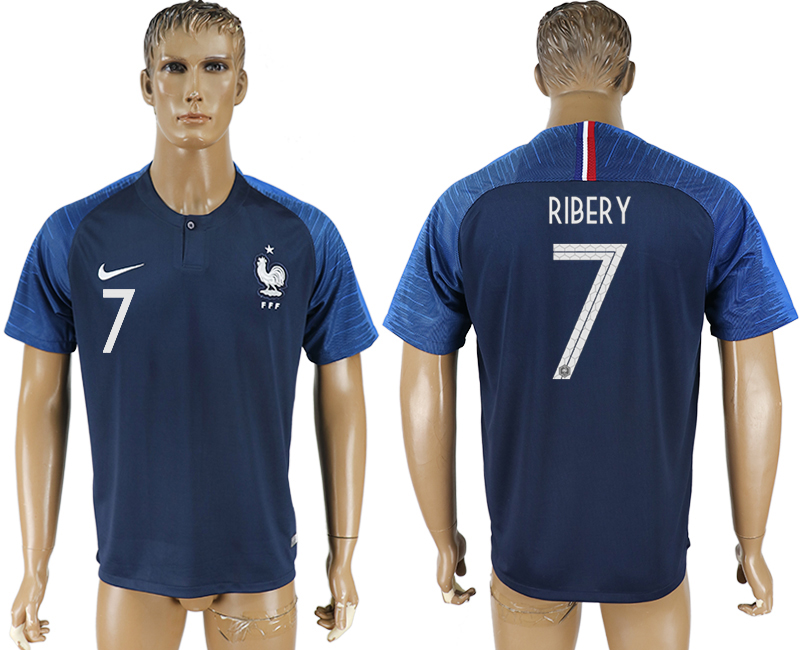 Men 2018 World Cup France home aaa version 7 blue soccer jersey1