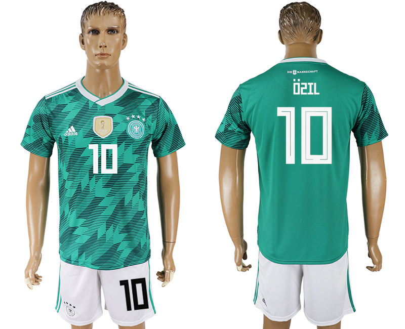 Men 2018 World Cup Germany away 10 green soccer jersey