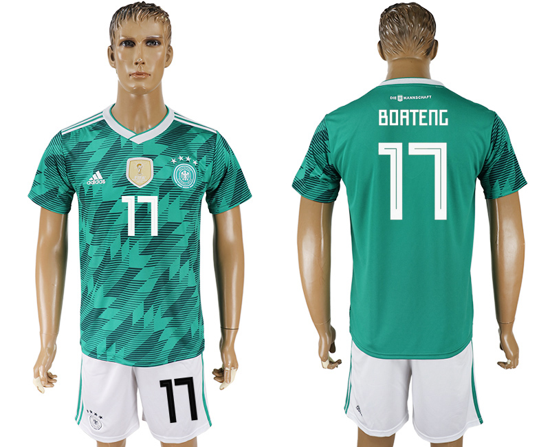 Men 2018 World Cup Germany away 17 green soccer jersey