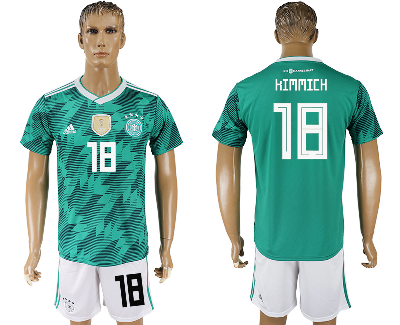 Men 2018 World Cup Germany away 18 green soccer jersey