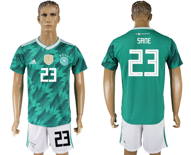 Men 2018 World Cup Germany away 23 green soccer jersey
