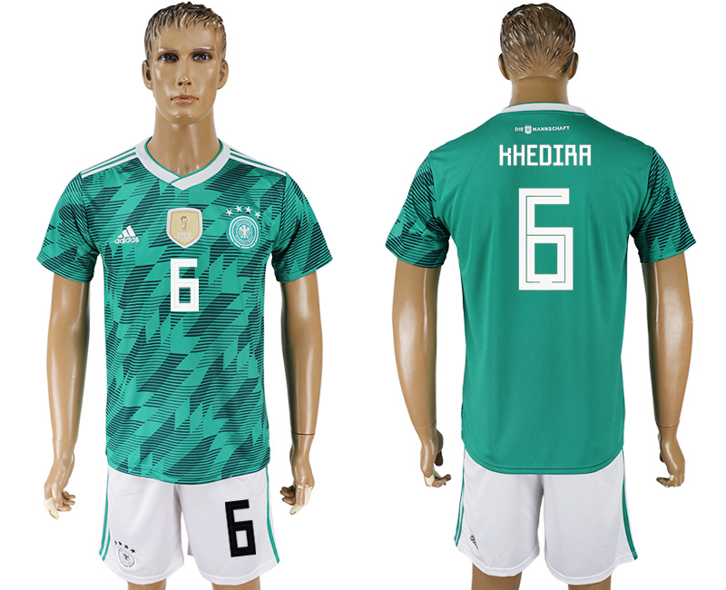 Men 2018 World Cup Germany away 6 green soccer jersey