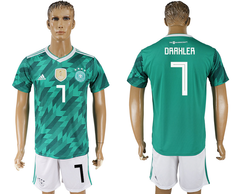 Men 2018 World Cup Germany away 7 green soccer jersey1