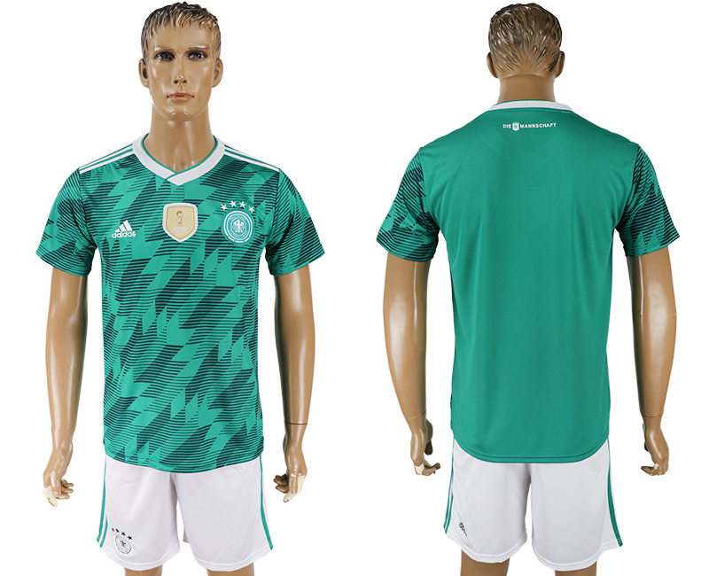 Men 2018 World Cup Germany away green soccer jersey