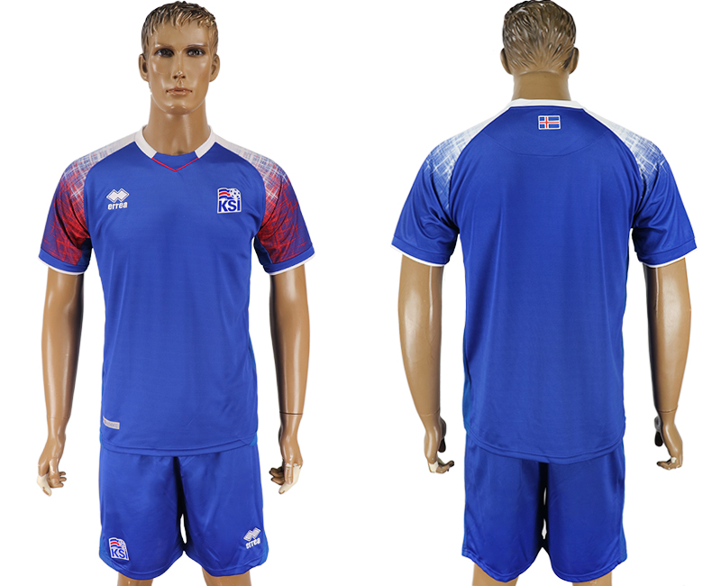 Men 2018 World Cup Iceland home blue soccer jersey1