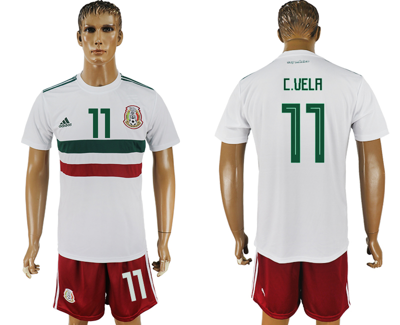 Men 2018 World Cup Mexico away 11 white soccer jersey