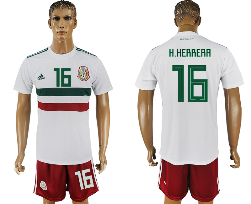Men 2018 World Cup Mexico away 16 white soccer jersey