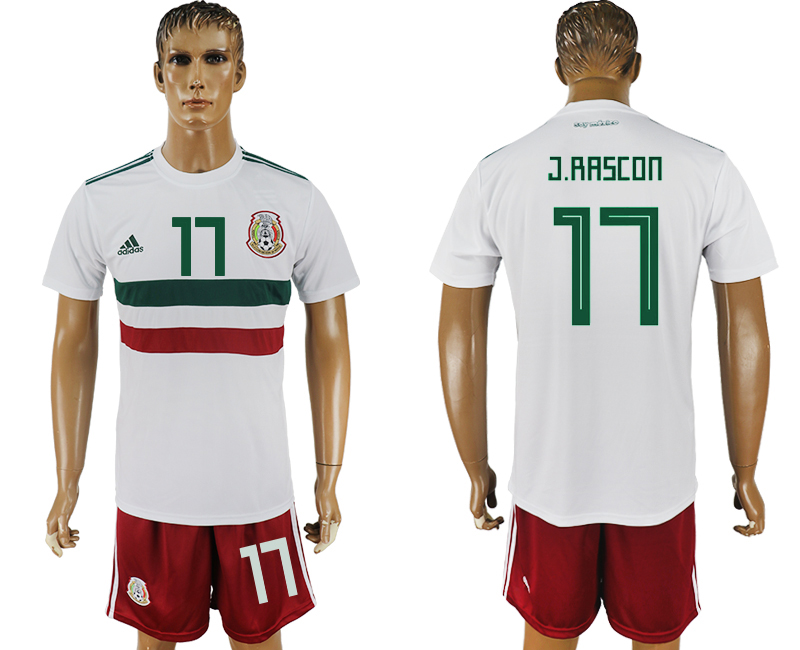 Men 2018 World Cup Mexico away 17 white soccer jersey