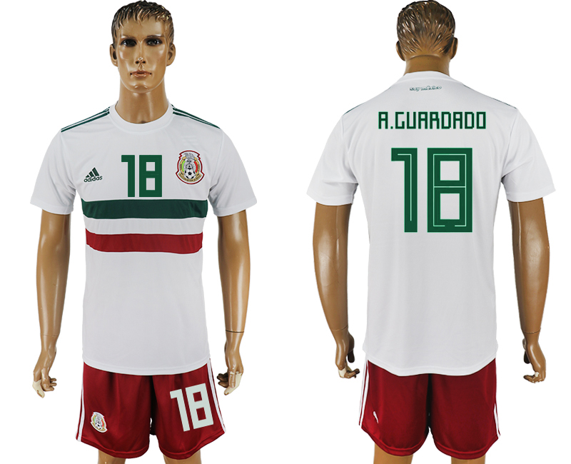 Men 2018 World Cup Mexico away 18 white soccer jersey