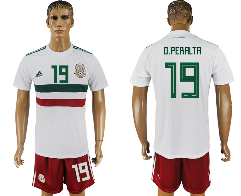 Men 2018 World Cup Mexico away 19 white soccer jersey