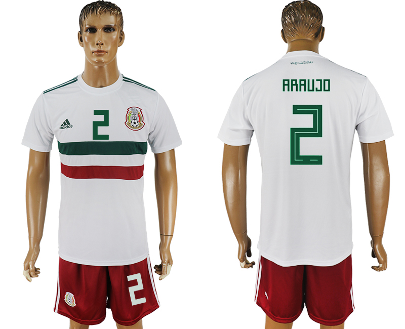 Men 2018 World Cup Mexico away 2 white soccer jersey