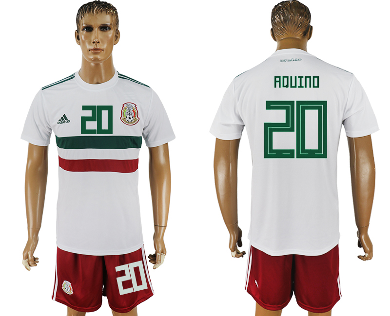 Men 2018 World Cup Mexico away 20 white soccer jersey