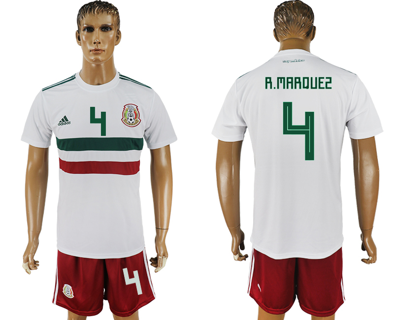 Men 2018 World Cup Mexico away 4 white soccer jersey