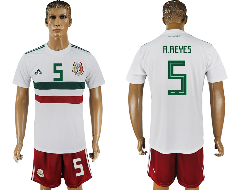Men 2018 World Cup Mexico away 5 white soccer jersey